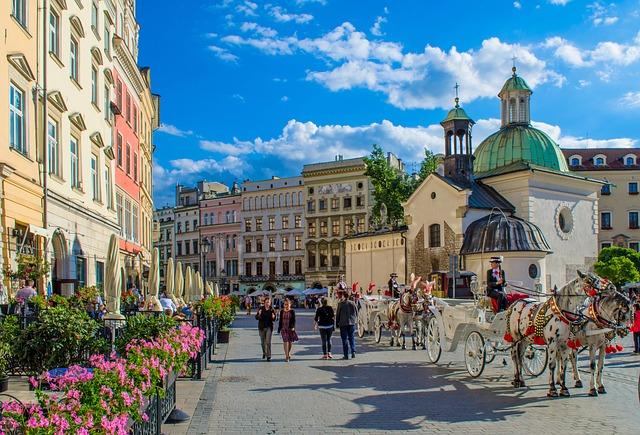 Busy z Polski do Anglii z Krakowa