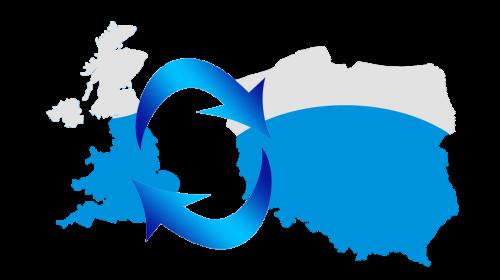 mapa busy z Polski do Anglii