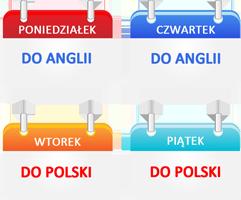 Dni wyjazdów busów z Polski do Anglii i z Anglii do Polski